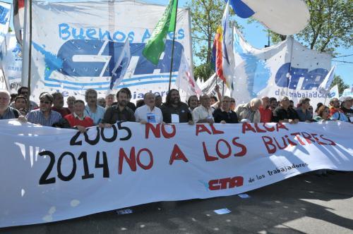 """SUTEBA PRESENTE EN EL ACTO """"2005: FUERA EL ALCA - 2014: FUERA LOS"""